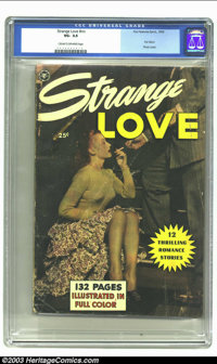 Fox Giants Strange Love (Fox Features Syndicate, 1950) CGC VG- 3.5 Cream to off-white pages. Fox Giant. Photo cover. Ove...