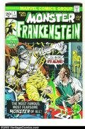 Bronze Age (1970-1979):Horror, Frankenstein #1 (Marvel, 1973) Condition: VF/NM. Fantastic firstissue by Mike Ploog. Overstreet 2002 NM 9.4 value = $50....