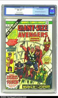 Giant-Size Avengers #1 (Marvel, 1974) CGC NM+ 9.6 Off-white to white pages. Golden Age Miss America appearance. Rich Buc...