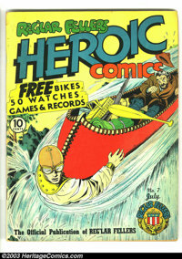 Heroic Comics #7 (Eastern Color, 1941) Condition: VG+. Bill Everett draws Hydroman rescues a wayward canoer on this cove...