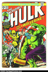 The Incredible Hulk #181 (Marvel, 1974) Condition = Qualified VG. Marvel Value stamp is missing. Overstreet 2002 GD 2.0...