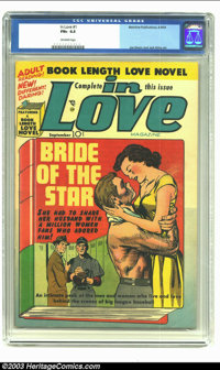 In Love #1 (Mainline Publications, 1954) CGC FN+ 6.5 Off-white pages. Simon and Kirby art. At this writing, this is the...