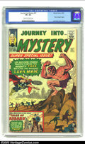 "Silver Age (1956-1969):Superhero, Journey into Mystery #97 (Marvel, 1963) CGC VF+ 8.5 Cream tooff-white pages. ""Tales of Asgard"" begins; classic Thor by Jack..."