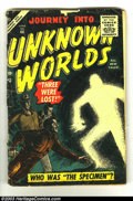 Golden Age (1938-1955):Horror, Journey into Unknown Worlds Group (Atlas, 1950). This groupconsists of an issue from 1953 (#23) and one from 1956 (#46), bo...(Total: 2 Item)