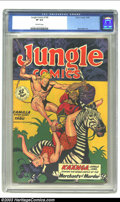 Golden Age (1938-1955):Adventure, Jungle Comics #108 (Fiction House, 1948) CGC VF 8.0 Off-white pages. Matt Baker art. Overstreet 2002 VF 8.0 value = $99. ...