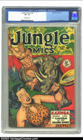 Golden Age (1938-1955):Adventure, Jungle Comics #109 (Fiction House, 1949) CGC VF- 7.5 Off-white pages. Overstreet 2002 VF 8.0 value = $88....