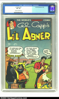 Li'l Abner #71 (Harvey, 1949) CGC VF+ 8.5 Cream to off-white pages. Overstreet 2002 VF 8.0 value = $77; NM 9.4 value = $...