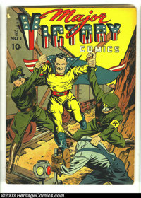 Major Victory #1 (H. Clay Glover Company, 1942) Condition: VG. Origin Major Victory. Overstreet 2002 GD 2.0 value = $61;...