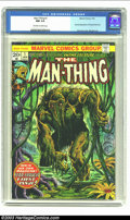 Bronze Age (1970-1979):Horror, Man-Thing #1 (Marvel, 1974) CGC NM 9.4 Off-white to white pages.Second appearance of Howard the Duck. Frank Brunner cover, ...