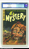 "Golden Age (1938-1955):Horror, Mister Mystery #11 (Aragon Magazines, Inc., 1953) CGC VG- 3.5 Creamto off-white pages. ""Robot Woman"" by Basil Wolverton; Be..."