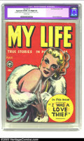 """Golden Age (1938-1955):Romance, My Life #7 (Fox, 1949) CGC Apparent VG/FN 5.0 Slight (A) Off-whitepages. CGC notes: """"Restoration includes: small amount of ..."""