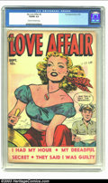 Golden Age (1938-1955):Romance, My Love Affair #2 (Fox, 1949) CGC VG/FN 5.0 Cream to off-whitepages. Just two copies of this issue have surfaced for CGC's ...