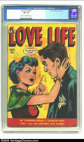Golden Age (1938-1955):Romance, My Love Life #8 (Fox, 1949) CGC FN- 5.5 Light tan to off-whitepages. More romance comics, Fox-style. Overstreet 2002 FN 6.0...