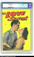 Golden Age (1938-1955):Romance, My Love Secret #53 (Fox, 1954) CGC VF 8.0 Off-white to white pages.Photo cover. Good-looking high-grade copy from a period ...
