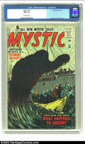 Silver Age (1956-1969):Horror, Mystic #59 (Atlas, 1957) CGC FN+ 6.5 Off-white pages. Everettcover, Krigstein art. Overstreet 2002 FN 6.0 value = $60. ...