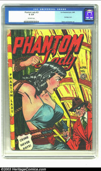 Phantom Lady #23 (Fox, 1949) CGC G 2.0 Off-white pages. Bondage cover; Baker and Kamen art. Overstreet 2002 GD 2.0 value...