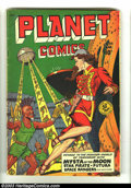 Golden Age (1938-1955):Science Fiction, Planet Comics #59 (Fiction House, 1949) Condition: VG. Overstreet2002 GD 2.0 value =$61; FN 6.0 value = $182....