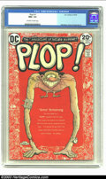 Modern Age (1980-Present):Humor, Plop! #1 (DC, 1973) CGC NM+ 9.6 Off-white to white pages. Wolvertoncover. Aragones, Wrightson, Evans, Alcala, and Mayer art...