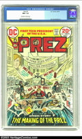 Bronze Age (1970-1979):Miscellaneous, Prez #1 (DC, 1973) CGC NM+ 9.6 Off-white to white pages. Joe Simonscripts. Highest CGC-graded copy to date. Overstreet 2002...