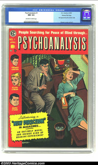 Psychoanalysis #1 Gaines File Copy (EC, 1955) CGC NM 9.4 Off-white to white pages. Complete with certificate of authenti...