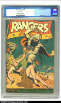Golden Age (1938-1955):War, Rangers Comics #36 (Fiction House, 1947) CGC VF 8.0 Cream tooff-white pages. Matt Baker art. Overstreet 2002 VF 8.0 value =...
