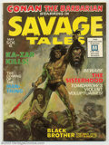 Bronze Age (1970-1979):Horror, Savage Tales #1 (Marvel, 1971) Condition: VF/NM. Origin and firstappearance of Man-Thing by Grey Morrow. Conan the Barbaria...