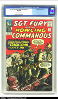 Silver Age (1956-1969):War, Sgt. Fury #11 (Marvel) CGC VF 8.0 Cream to off-white pages. Overstreet 2002 VF 8.0 value = $50....