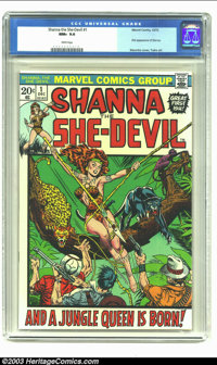 Shanna the She-Devil #1 (Marvel, 1973) CGC NM+ 9.6 White pages. First appearance of Shanna. Jim Steranko cover, George T...