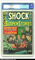 Golden Age (1938-1955):Horror, Shock SuspenStories #1 (EC, 1952) CGC FN 6.0 Cream to off-whitepages. Classic electrocution cover by Feldstein. Davis, Inge...
