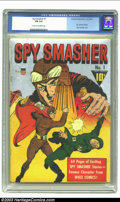 Golden Age (1938-1955):Adventure, Spy Smasher #1 (Fawcett, 1941) CGC FN 6.0 Cream to off-white pages. Spy Smasher begins; Silver metallic cover. Overstreet 20...