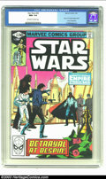 """Modern Age (1980-Present):Science Fiction, Star Wars #43 (Marvel, 1981) CGC NM+ 9.6 Off-white to white pages.Part 5 of """"The Empire Strikes Back"""" movie adaptation. Al ..."""