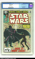 "Modern Age (1980-Present):Science Fiction, Star Wars #44 (Marvel, 1981) CGC NM+ 9.6 Off-white to white pages.Al Williamson art. Part 6 of ""The Empire Strikes Back"" mo..."