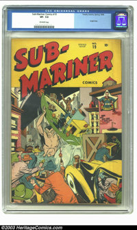 Sub-Mariner Comics #19 (Timely, 1946) CGC VF- 7.5 Off-white pages. Part of the White Rose Collection; includes certifica...