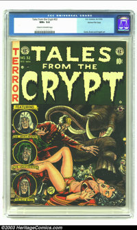 Tales From the Crypt #32 Gaines File pedigree 3/12 (EC, 1952) CGC NM+ 9.6 Cream to off-white pages. Jack Davis cover; Da...