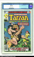 Bronze Age (1970-1979):Miscellaneous, Tarzan (Marvel) #1 (Marvel, 1977) CGC VF+ 8.5 Off-white to whitepages. The legendary Lord of the Jungle gets the Marvel tre...