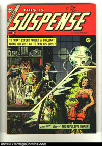 This Is Suspense #23 River City Pedigree (Charlton, 1955) Condition: FN+. Wally Wood artwork. Last Pre-code issue. Overs...