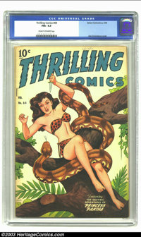 Thrilling Comics #64 (Better Publications, 1948) CGC FN+ 6.5 Cream to off-white pages. Alex Schomburg cover. Overstreet...