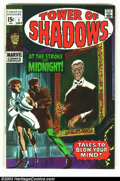 Silver Age (1956-1969):Horror, Tower of Shadows #1 (Marvel, 1969) Condition: VF. Fantastic JimSteranko story. Overstreet 2002 VF 8.0 value = $40....