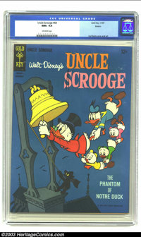 Uncle Scrooge #60 Boston pedigree (Dell, 1965) CGC NM+ 9.6 Off-white pages. Carl Barks Uncle Scrooge cover and art, feat...