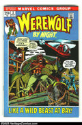 Bronze Age (1970-1979):Horror, Werewolf by Night #2 (Marvel, 1972) Condition: VF. Overstreet 2002VF 8.0 value = $26....