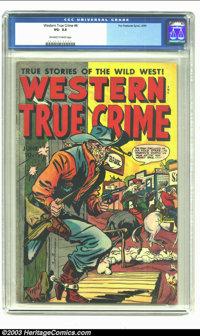 Western True Crime #6 (Fox, 1949) CGC VG- 3.5 Off-white to white pages. Overstreet 2002 GD 2.0 value = $16; FN 6.0 value...
