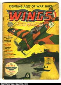 Wings Comics #1 (Fiction House, 1940) Condition: GD-. Fiction House created many classic titles that ran the length of t...