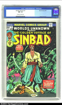Worlds Unknown #7 (Marvel, 1974) CGC NM- 9.2 Off-white to white pages. The Golden Voyage of Sinbad; George Tuska art. Ov...