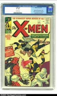 X-Men #1 (Marvel, 1963) CGC GD+ 2.5 Off-white pages. Origin and first appearance of the X-Men. First appearance of Magne...