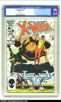 X-Men #206 (Marvel, 1986) CGC NM/MT 9.8 White pages. John Romita Jr. cover and art. CGC's highest grade to date for issu...