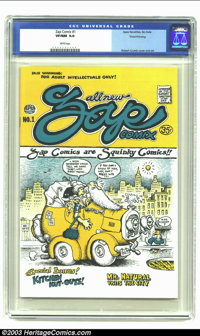 Zap Comix #1 Third Printing (Apex Novelties) CGC VF/NM 9.0 White pages. Robert Crumb cover and art. Legendary Undergroun...