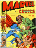 Original Comic Art:Sketches, C.C. Beck - Original Art Cover Recreation of Marvel Mystery Comics #8 (1974). In the '70s, legendary Fawcett/Captain Marvel ...