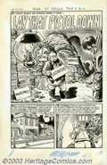 "Original Comic Art:Complete Story, Howard Nostrand - Original Art for Chamber of Chills #20, Complete 5-page Story, ""Lay That Pistol Down"" (Harvey, 1953). Men ..."