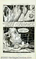 "Original Comic Art:Complete Story, Unknown artist - Original Art for Chamber of Chills #20, Complete 5-page Story, ""The Clock"" (Harvey, 1953). This timely stor..."