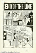 """Original Comic Art:Complete Story, Artist unknown - Original Art for Chamber of Chills #20, Complete 5-page Story, """"End of the Line"""" (Harvey, 1953). Here's a s..."""